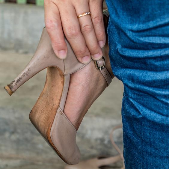 chú ý mang giày vừa chân