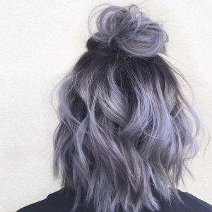 tóc màu khói tím