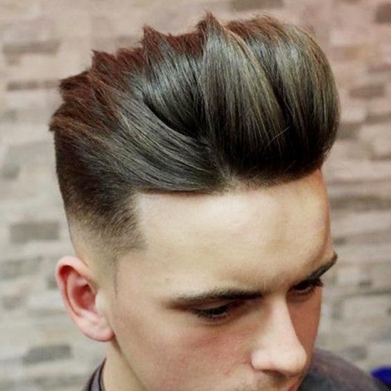 tóc nam màu rêu khói