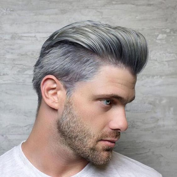 tóc nhuộm đẹp cho nam màu khói