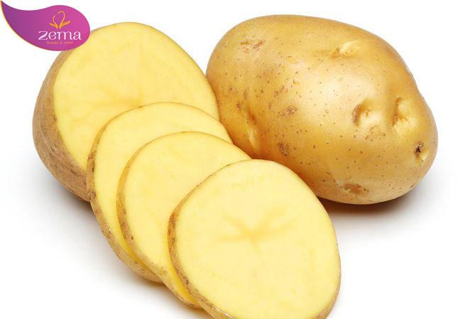 dùng khoai tây trị mụn