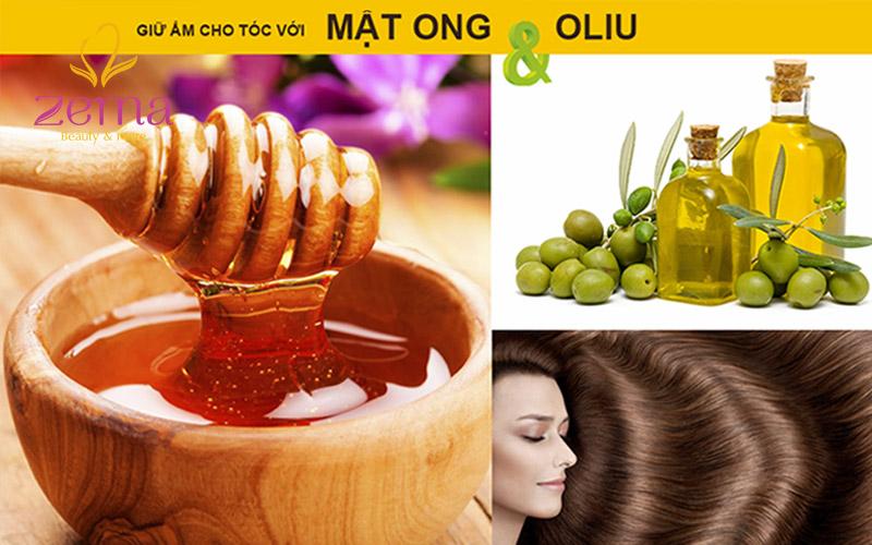 Mật ong kết hợp với dầu Oliu là công thức để giữ ẩm cho tóc luôn khoẻ đẹp