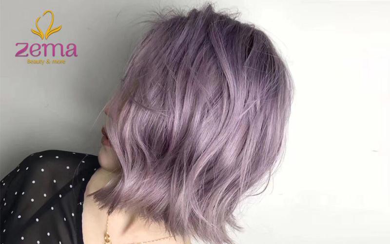 Tóc nhuộm màu tím