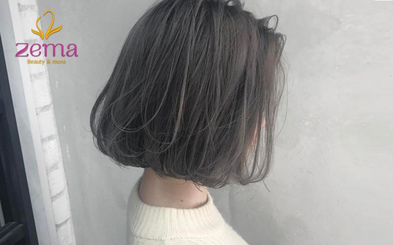 Kiểu tóc ngắn vừa phải uốn phồng cụp đuôi dành cho những cô nàng tóc mỏng