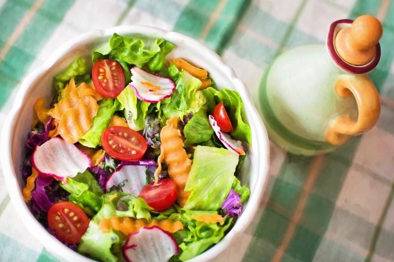 salad fresh veggies vegetables healthy diet food