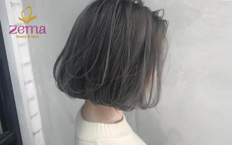 Tóc ngắn ép phồng giúp cân đối gương mặt hơn