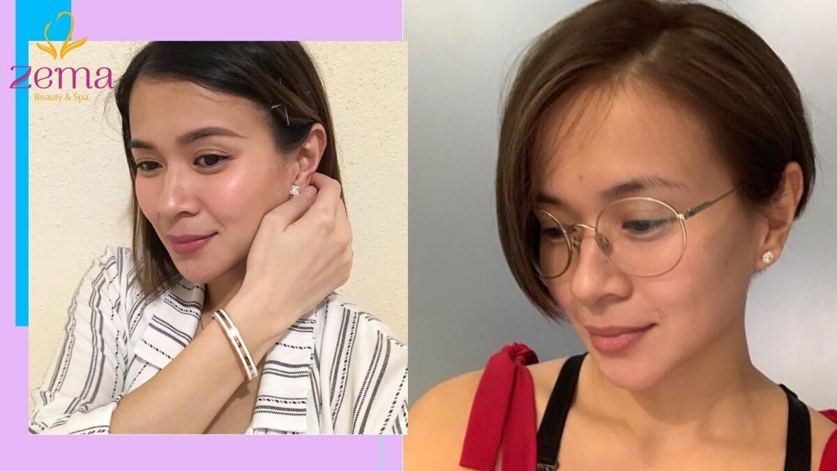 Kiểu tóc thẳng ngang vai và tóc lob giúp các chị em sở hữu vẻ ngoài trẻ trung, thanh lịch