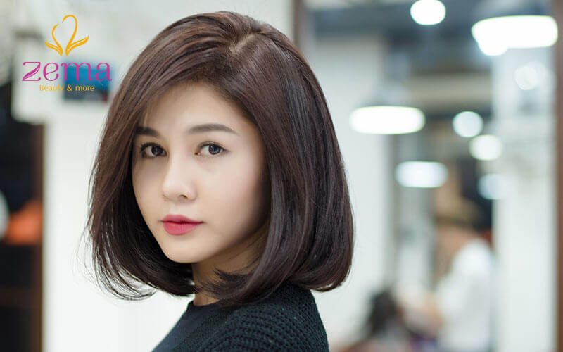 Kiểu tóc ngắn ép phồng cực hợp với khuôn mặt hình trái tim