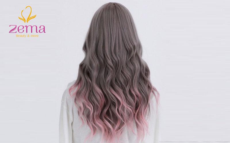 Highlight hồng sự lựa chọn 1 trong những mẫu tóc highlight đẹp