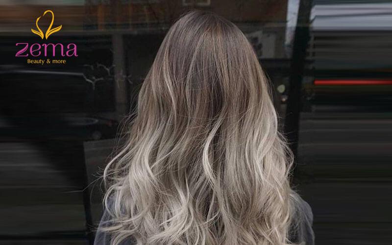 Highlight màu xám khói đứng top trong bộ sưu tâp những mẫu tóc highlight đẹp