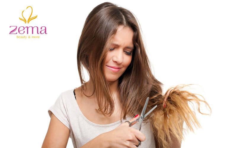 Tóc khô xơ sau khi tẩy