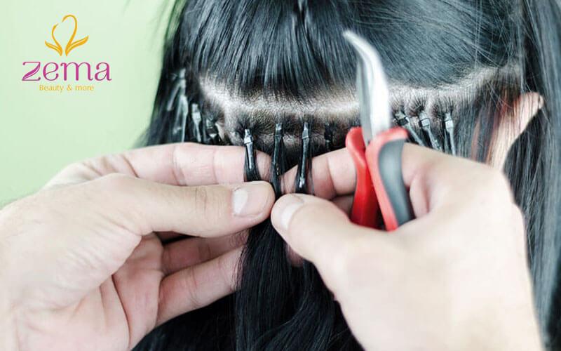 Nối kẹp chì gây nặng đầu và đứt tóc thật