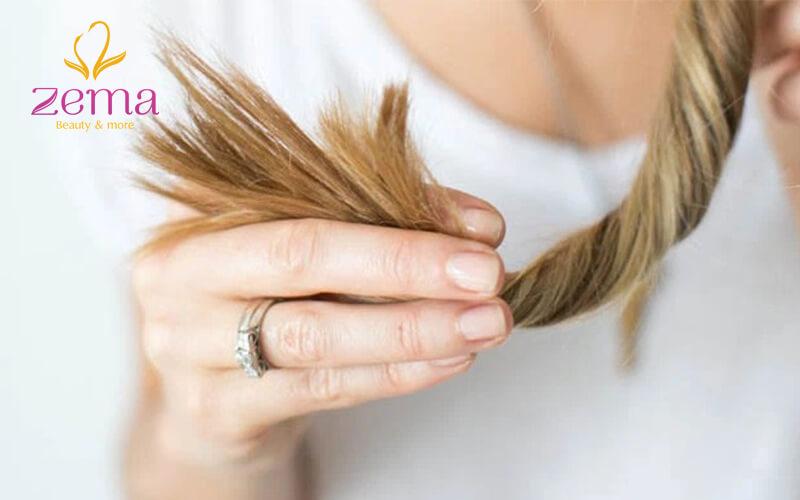 Tránh sử dụng nhiệt lên mái tóc cháy hư tổn