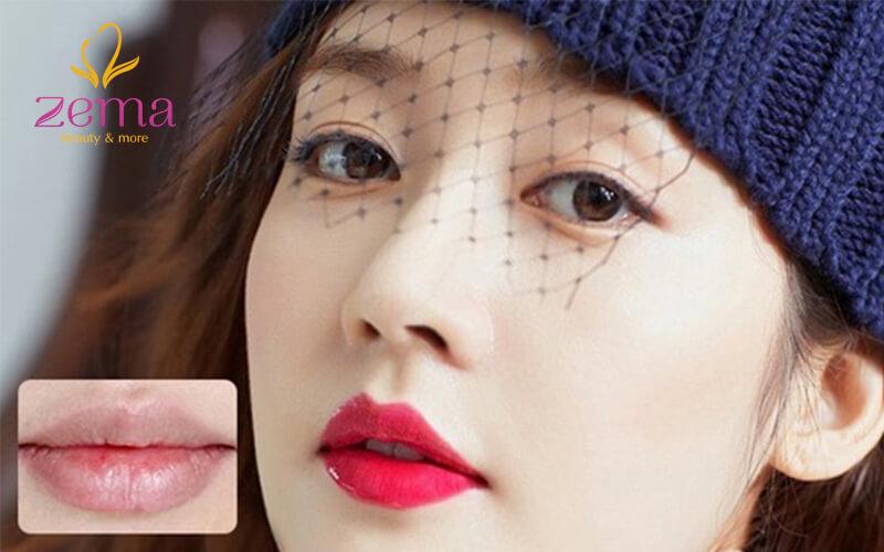 Bí quyết phun môi màu hồng cam