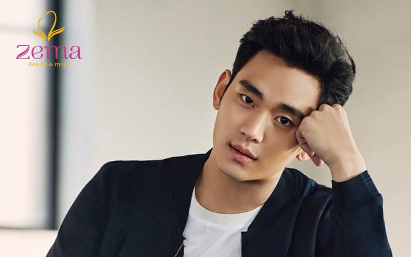 Kiểu tóc side part cho cụ giáo một mí Kim Soo Hyun