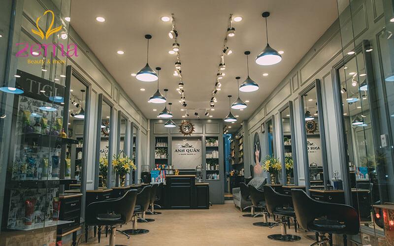 Hair Salon Anh Quân nổi tiếng với dịch vụ nối tóc tự nhiên như thật