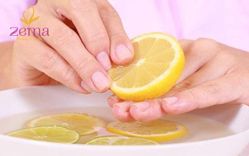Cách làm cho móng tay trắng sạch với chanh