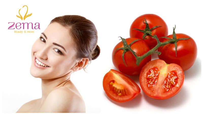 Cà chua - nguyên liệu dưỡng trắng da tại nhà an toàn
