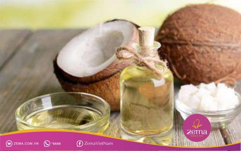 Dầu dừa có tác dụng ngăn ngừa tóc gãy rụng, tránh làm khô xơ tóc và bổ sung các chất dinh dưỡng và độ ẩm cần thiết cho tóc