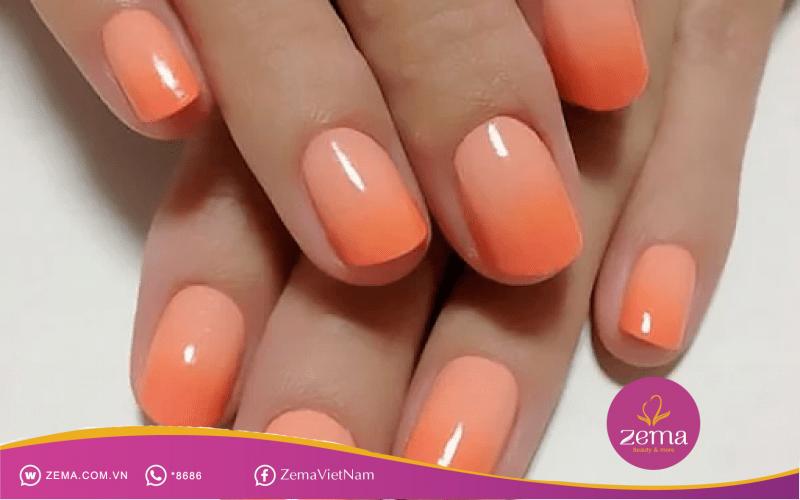 Mẫu nail ombre pha màu vô cùng độc đáo