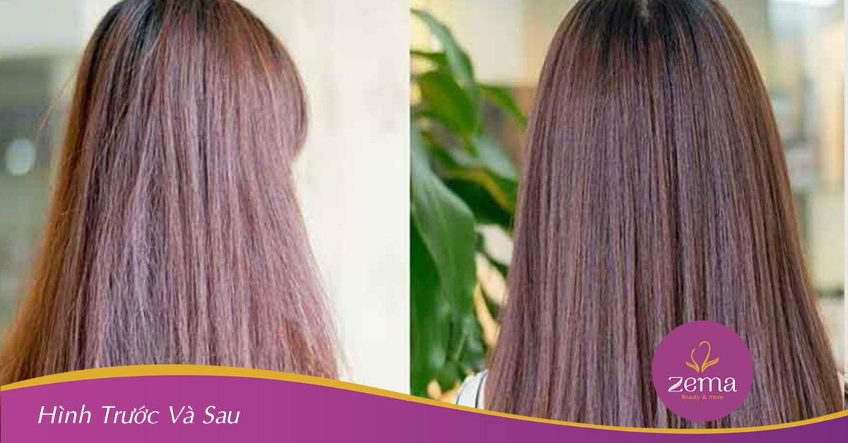 Hiểu quả phục hồi tóc rõ rệt khi sử dụng dịch vụ tại ZEMA Beauty & More