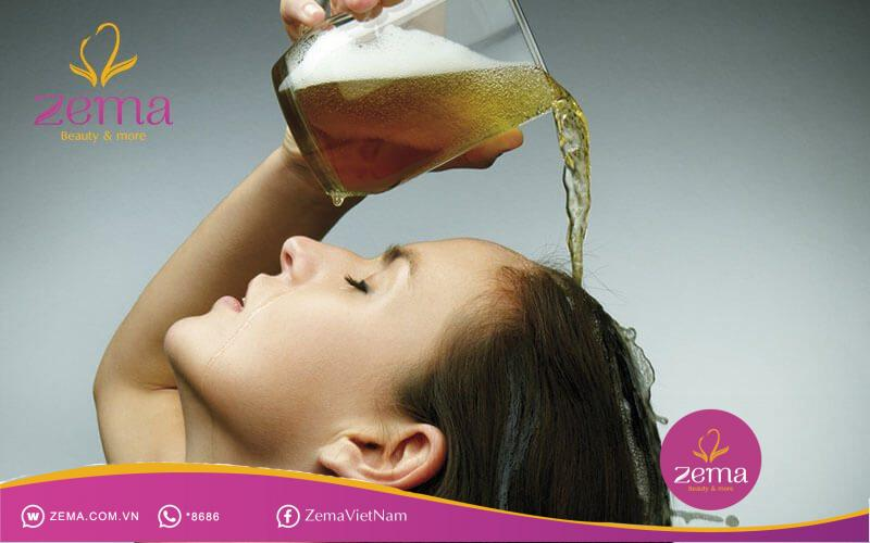 Mẹo giúp tóc mau dài bằng bia