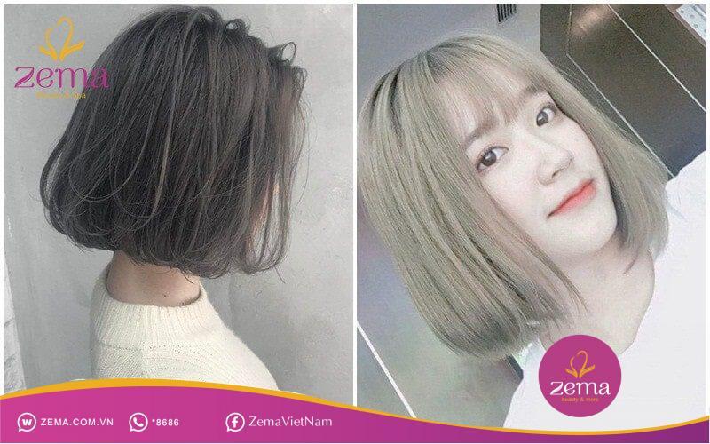 Tóc màu nâu rêu đậm