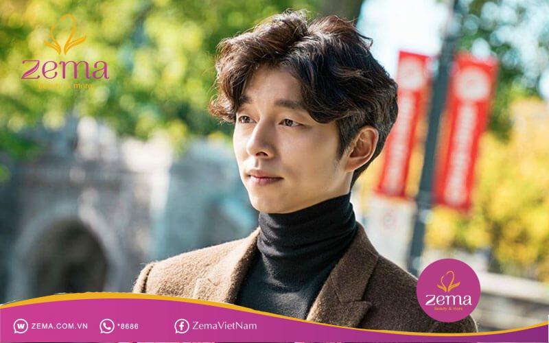 Kiểu tóc nam Hàn Quốc hai mái ép phồng