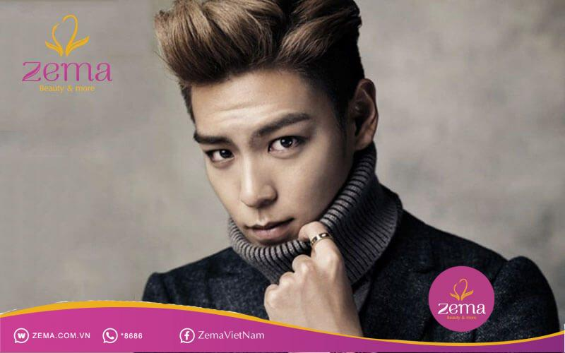 Kiểu tóc nam Hàn Quốc Quiff vuốt ngược