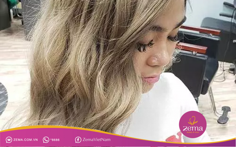 Kiểu nhuộm tóc màu vàng thông dụng thích hợp cho mọi đối tượng khách hàng