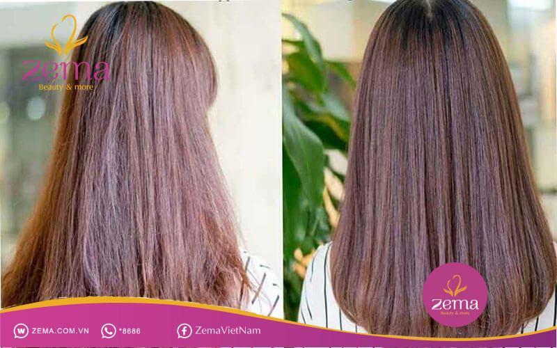 Phục hồi mái tóc bằng dầu oliu
