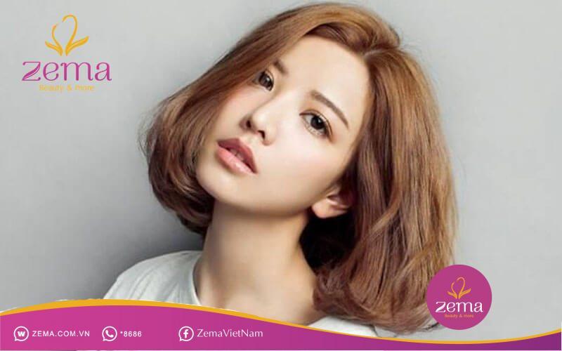 Kiểu tóc ngang vai mái dài giúp nàng tự tin