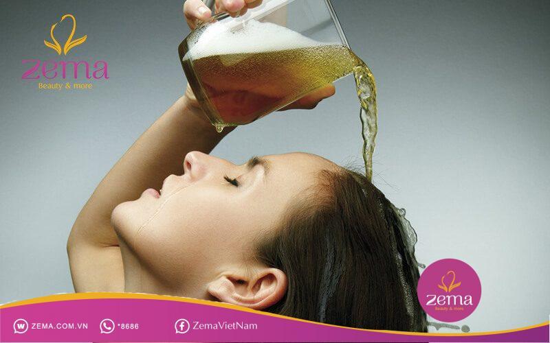 Bia giúp cho mái tóc của bạn mềm mượt, chắc khỏe và dày hơn