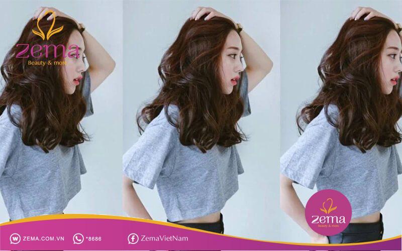 Kiểu tóc xoăn dài bồng bềnh