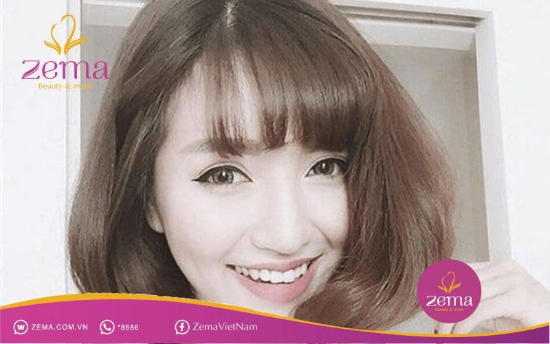 Uốn tóc ngắn phồng phù hợp với những bạn sở hữu khuôn mặt tròn trịa