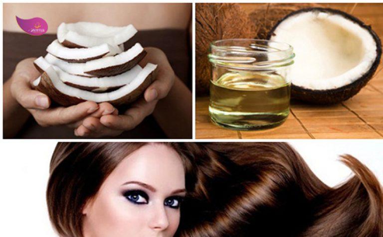 Dầu dừa giúp duỗi tóc thẳng tự nhiên.