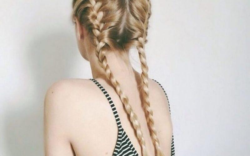 Kiểu tóc tết hai bên giữ nếp tóc