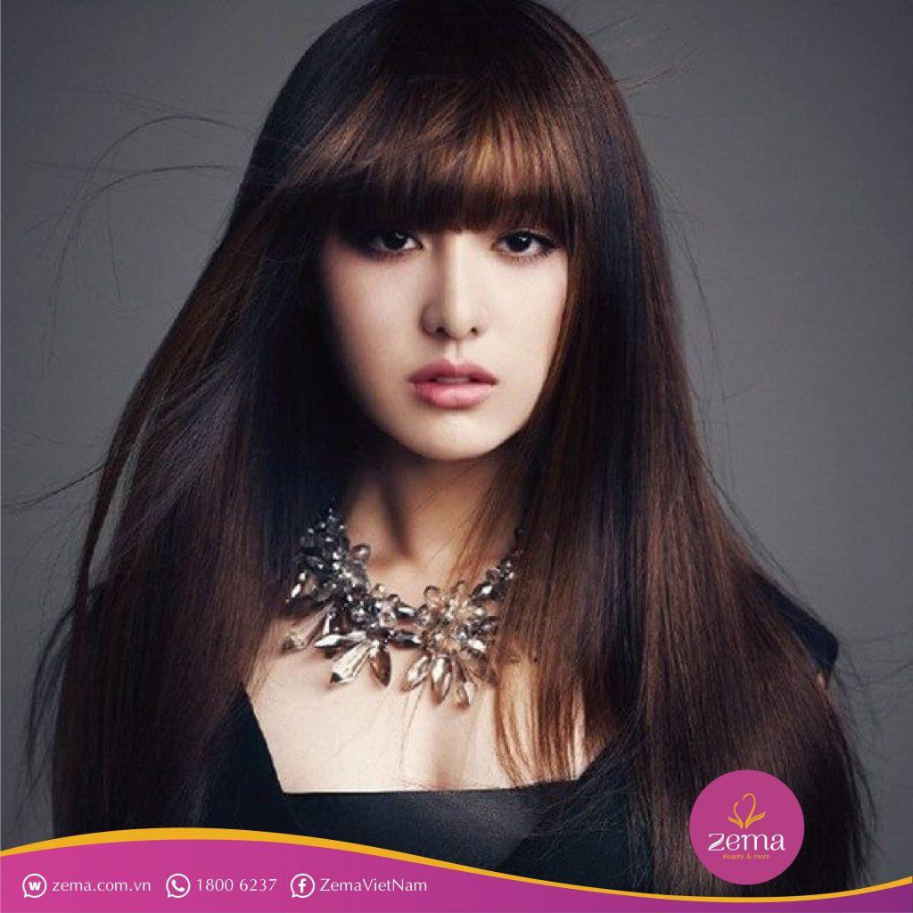 Kiểu duỗi tóc mái siêu đẹp