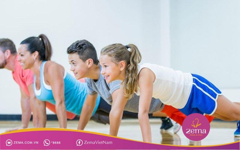 Chống đẩy là một trong những bài tập thể dục cơ bản