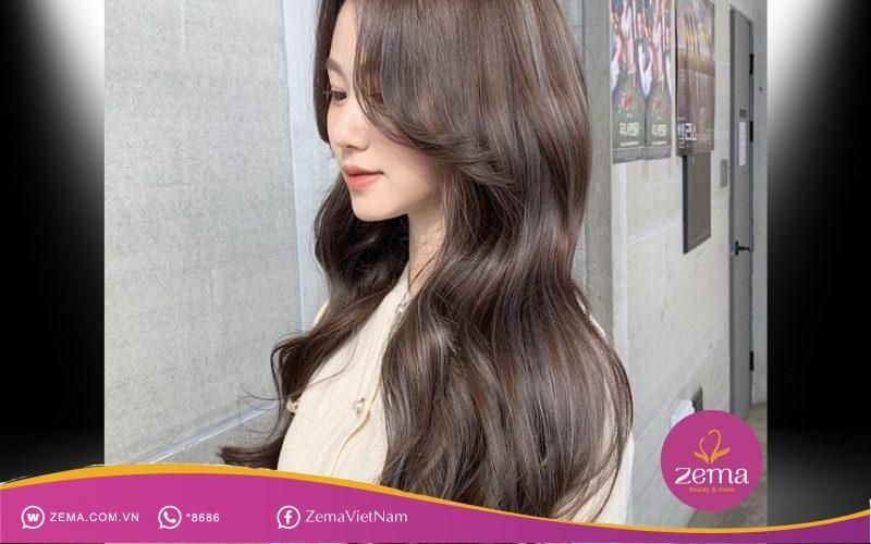 Tóc dài uốn sóng sang chảnh