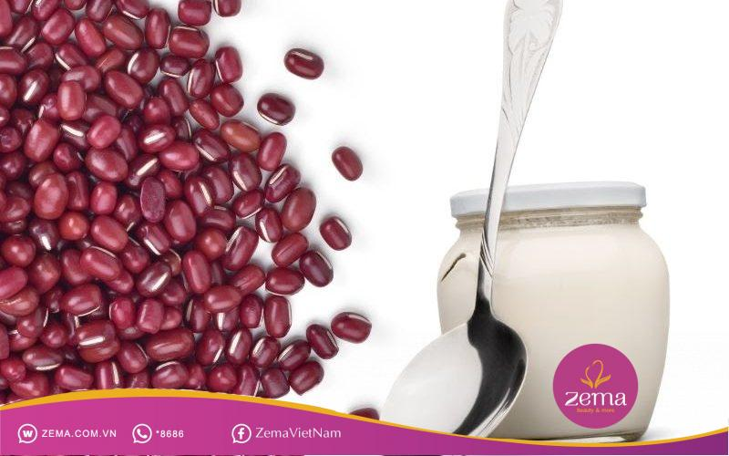 Cách dưỡng da bằng bột đậu đỏ và sữa chua không đường