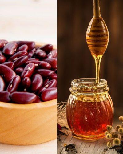 Bột đậu đỏ kết hợp mật ong có thể dùng để dưỡng da