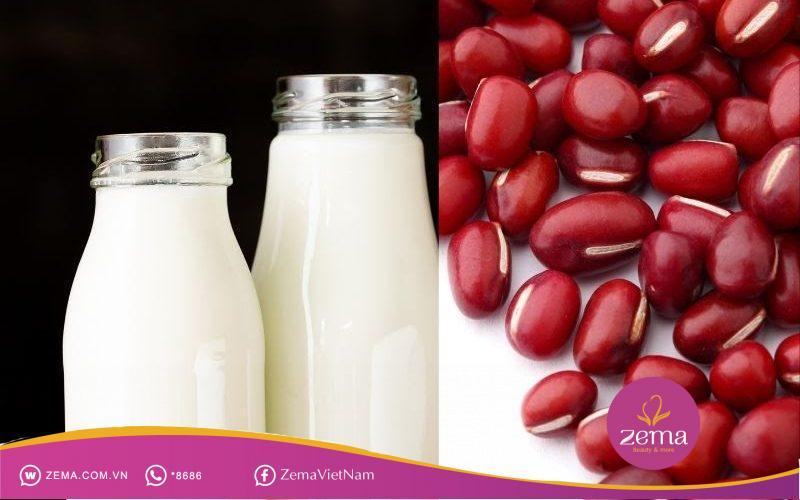 Phương pháp dưỡng da bằng bột đậu đỏ và sữa tươi