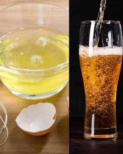 Cách dùng bia kết hợp trứng gà