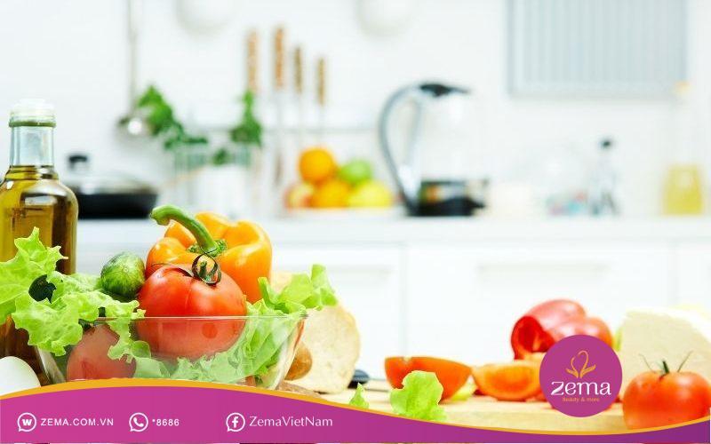 Lưu trữ các thực phẩm lành mạnh hỗ trợ giảm cân