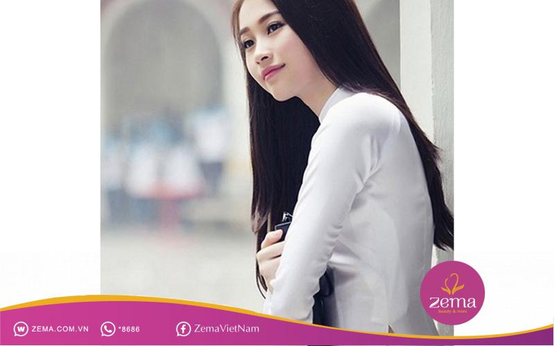Kiểu tóc đen dài đẹp tựa thiên thần