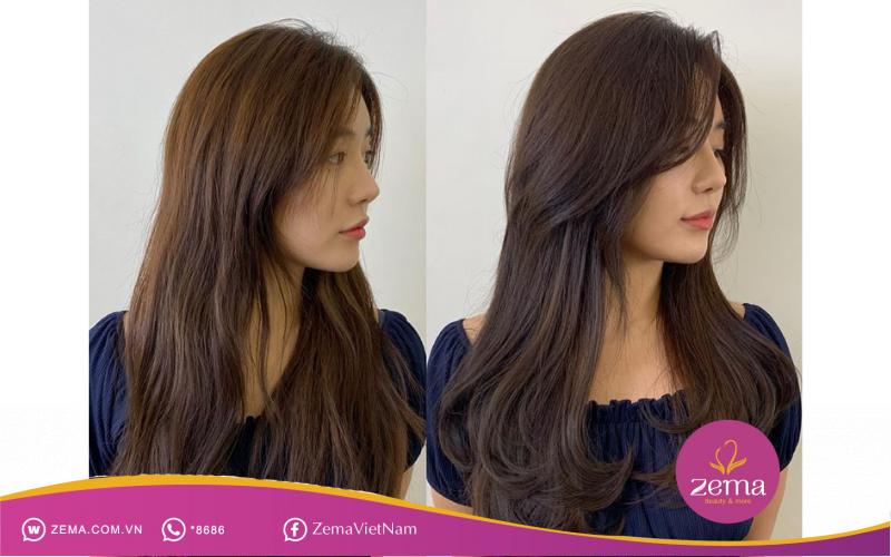 Cá tính hơn với kiểu tóc dài tỉa layer