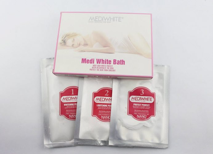 Top sản phẩm kem tắm trắng da tốt nhất Medi White Bath