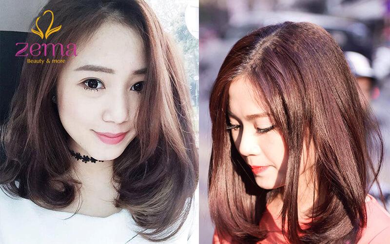 Kiểu duỗi phần trên tóc