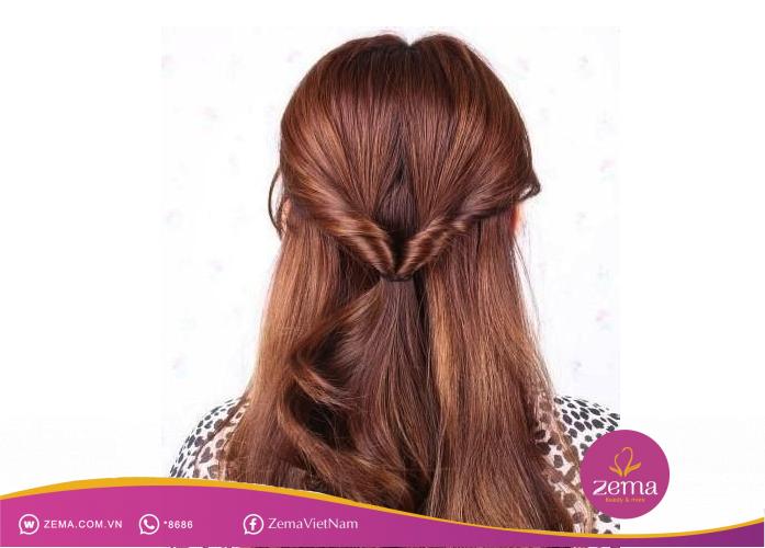 Kiểu tóc buộc nữa đầu thích hợp cho đám cưới